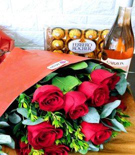 Rosas, Vino y Ferrero